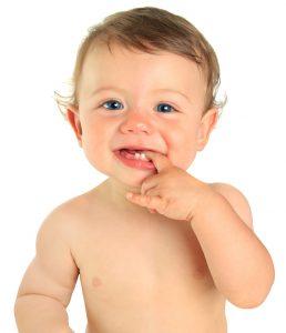 baby boy with a few teeth