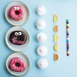 picture of an assortment of different sugary treats.
